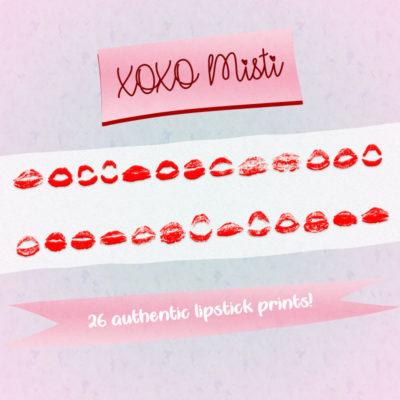 XOXO Misti Typeface by Misti's Fonts