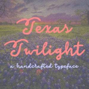 Texas Twilight Typeface by Misti's Fonts