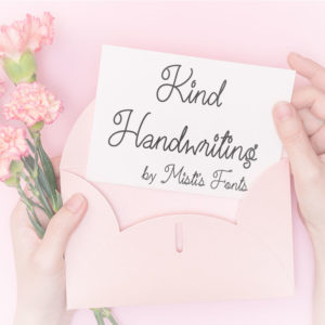 Kind Handwriting Typeface by Misti's Fonts