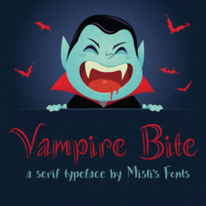 Vampire Bite Typeface by Misti's Fonts