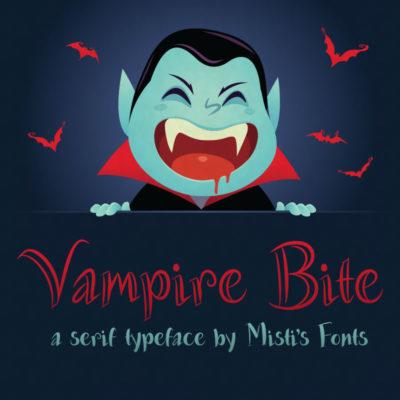 Vampire Bite Typeface by Misti's Fonts