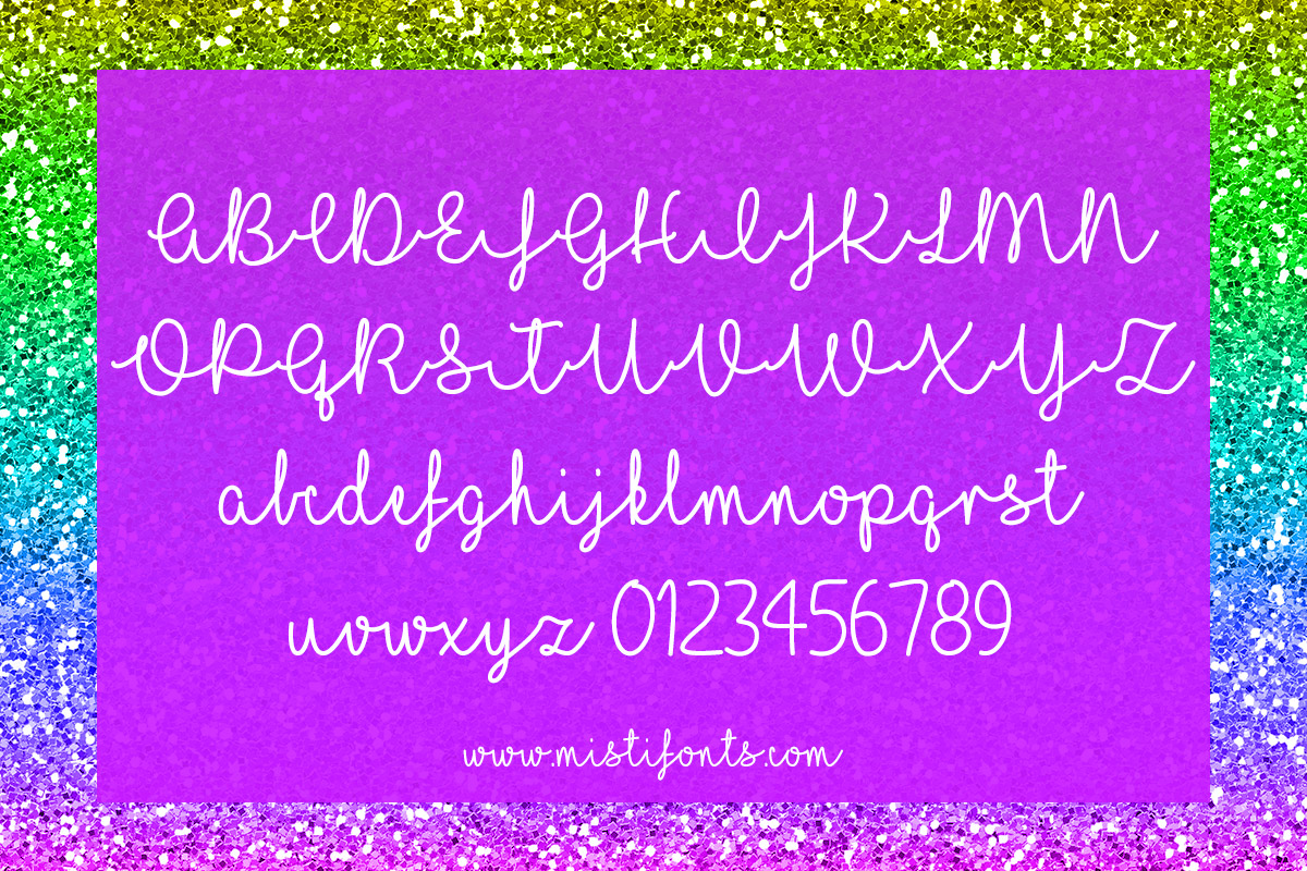 I Love Glitter Typeface by Misti's Fonts