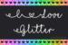 I Love Glitter Typeface by Misti's Fonts