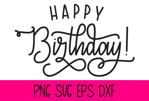 Happy Birthday Graphic by Misti's Fonts