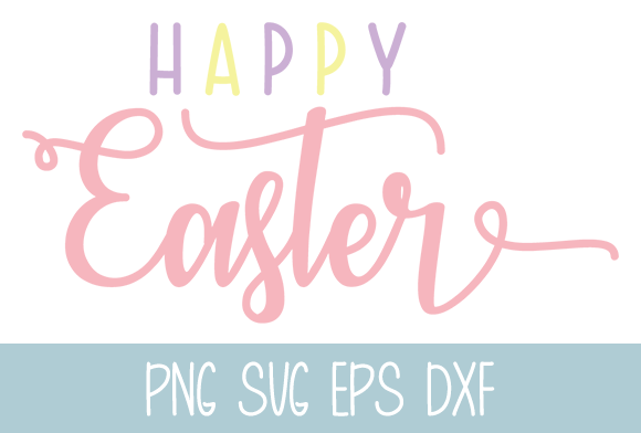 Happy Easter Graphic by Misti's Fonts