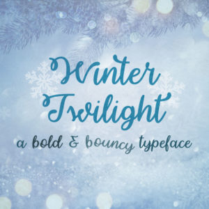 Winter Twilight Typeface by Misti's Fonts