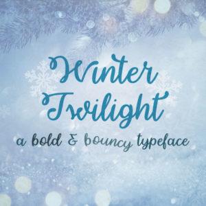 Winter Twilight Typeface by Misti's Fonts