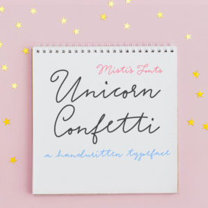 Unicorn Confetti Typeface by Misti's Fonts