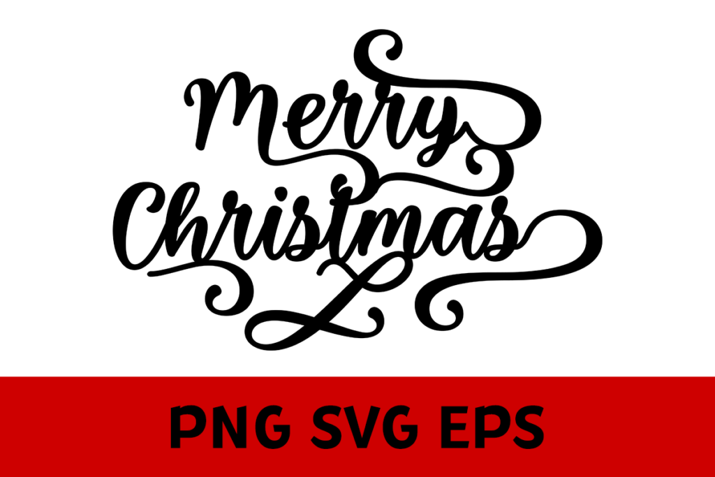 Fancy Merry Christmas Graphic by Misti's Fonts