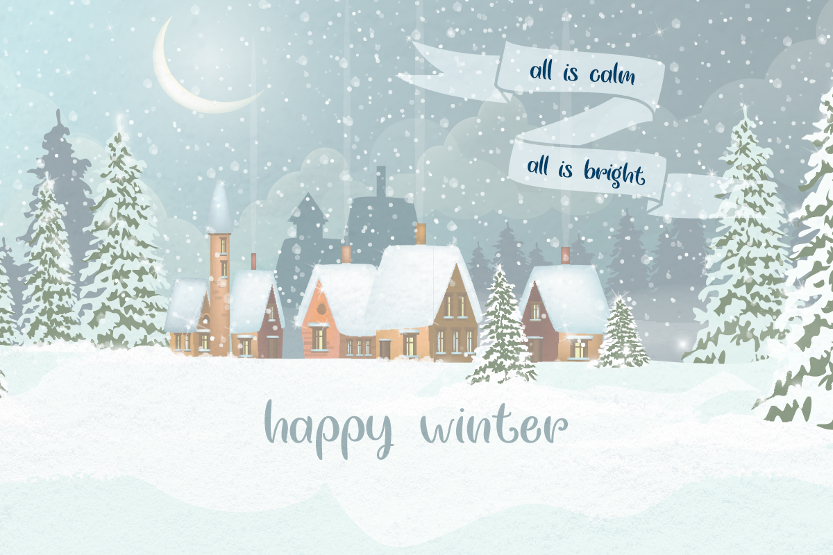 Chasing Snowflakes Typeface by Misti's Fonts