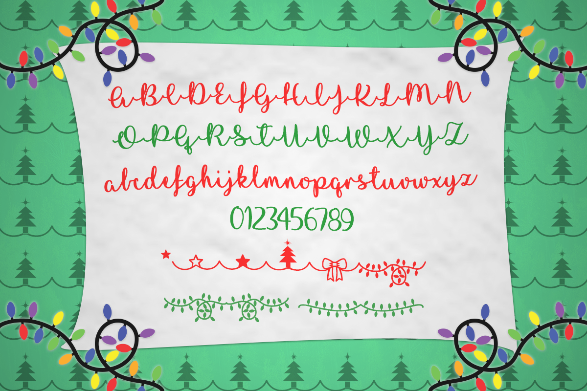 I Love Glittermas Typeface by Misti's Fonts