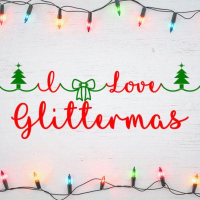 I Love Glittermas Typeface by Misti's Fonts