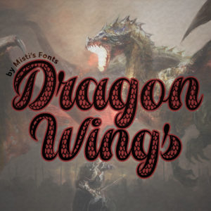 Dragon Wings Typeface by Misti's Fonts