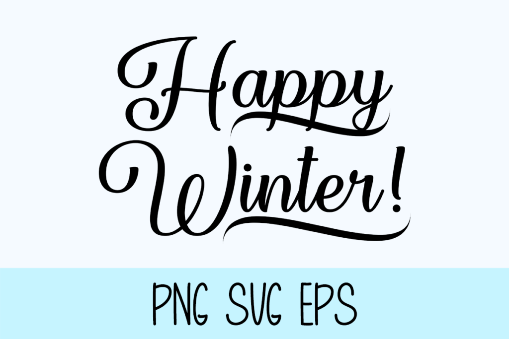 Happy Winter Graphic by Misti's Fonts