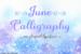 june-calligraphy