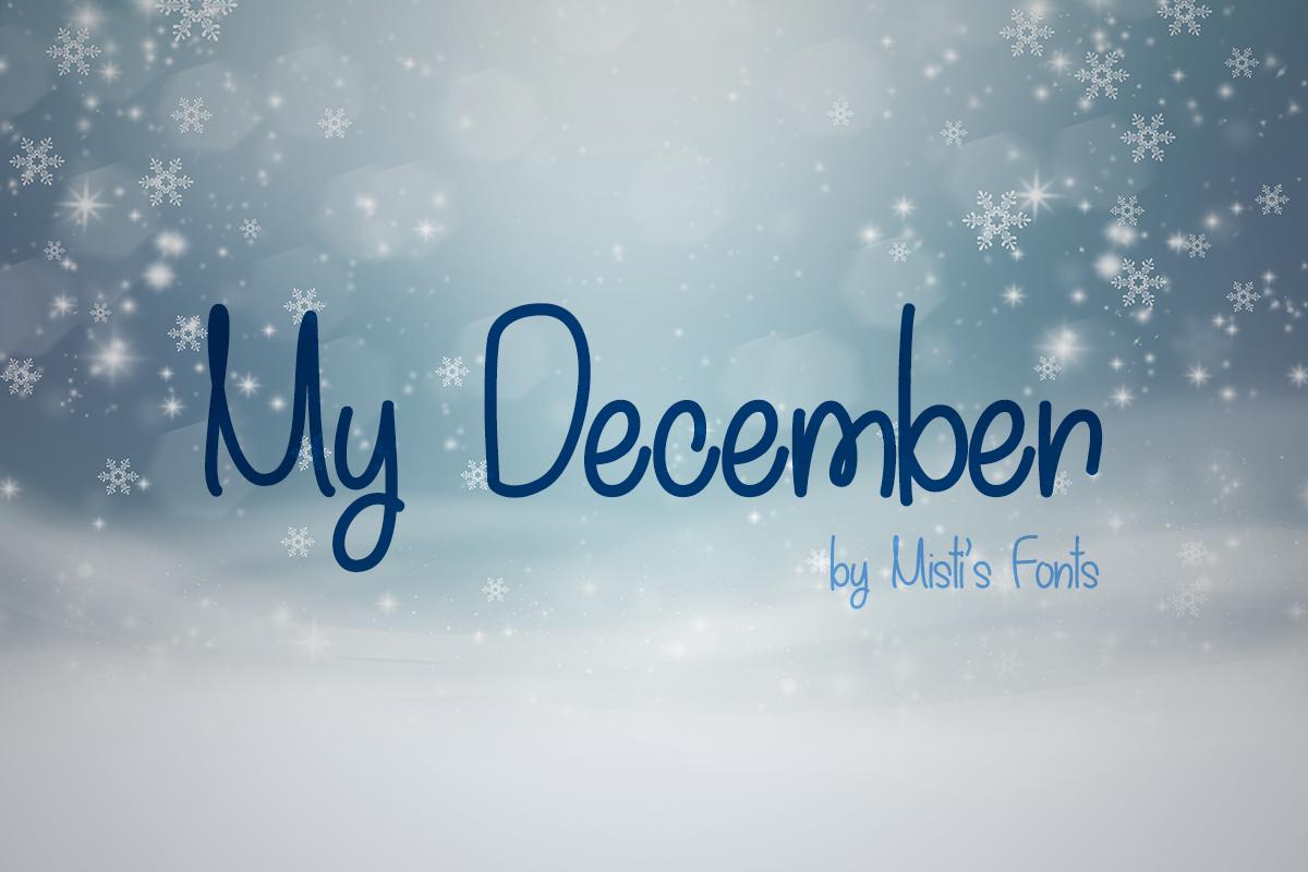 My December Typeface by Misti's Fonts
