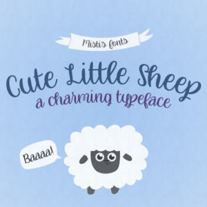 Cute Little Sheep Typeface by Misti's Fonts