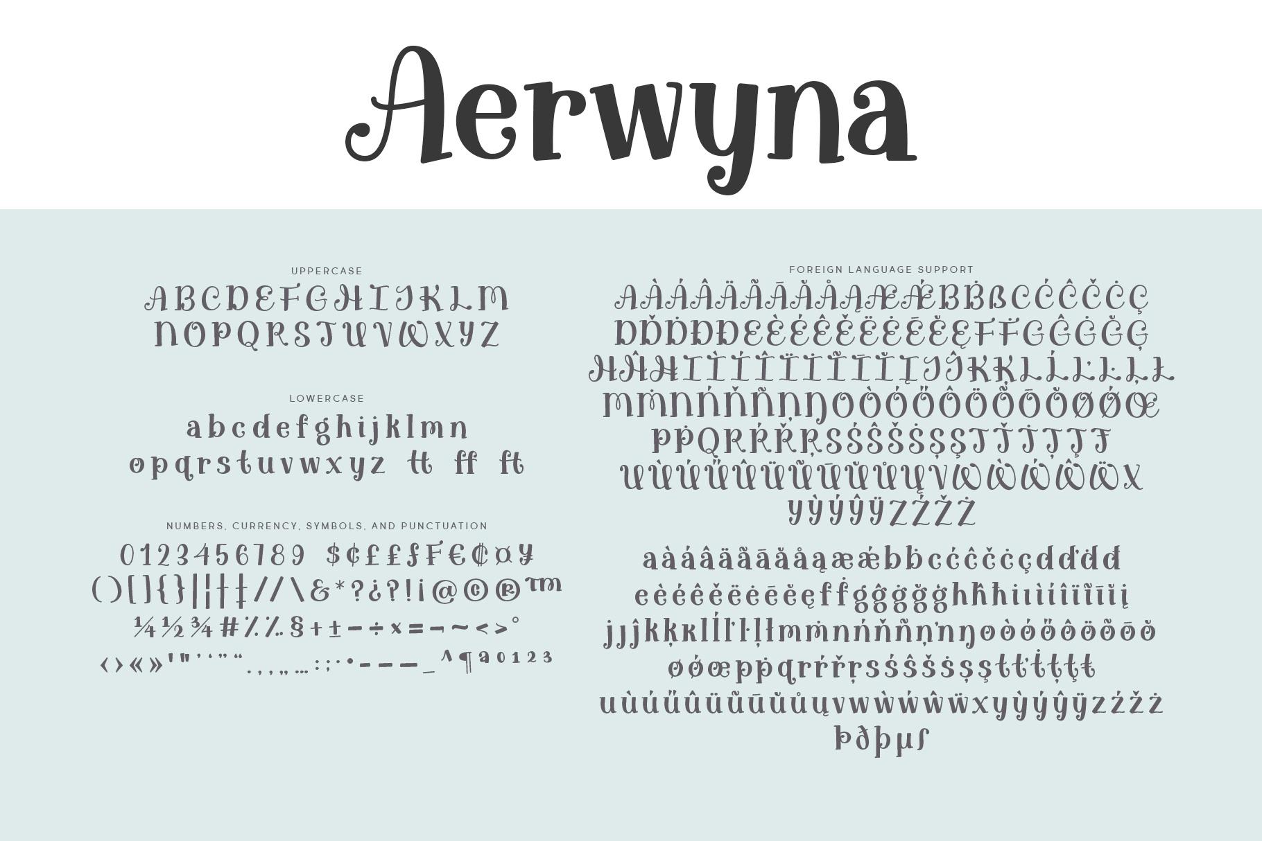 Aerwyna Alphabet