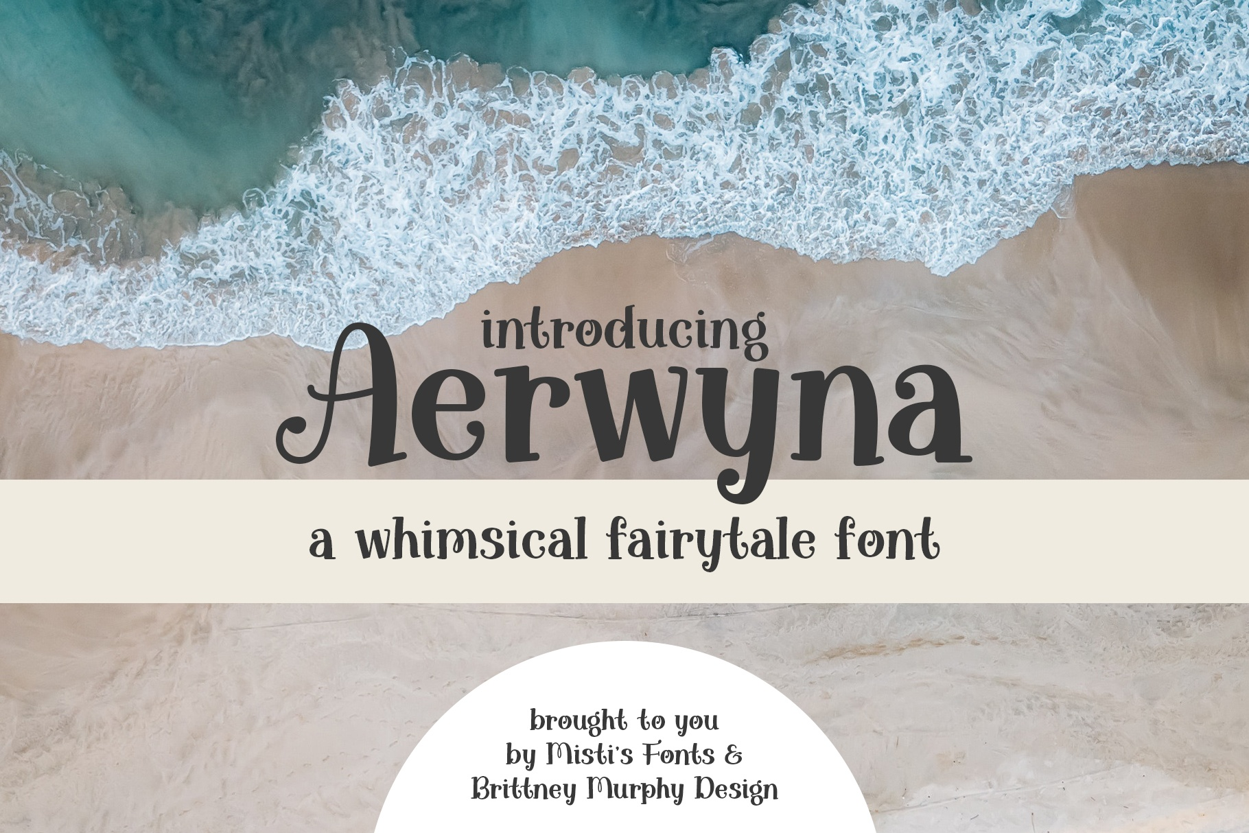 Aerwyna Typeface by Brittney Murphy Design and Misti's Fonts