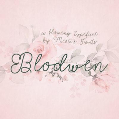 Blodwen Typeface by Misti's Fonts