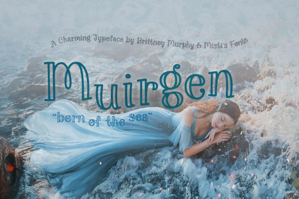 Muirgen Typeface by Brittney Murphy Design and Misti's Fonts