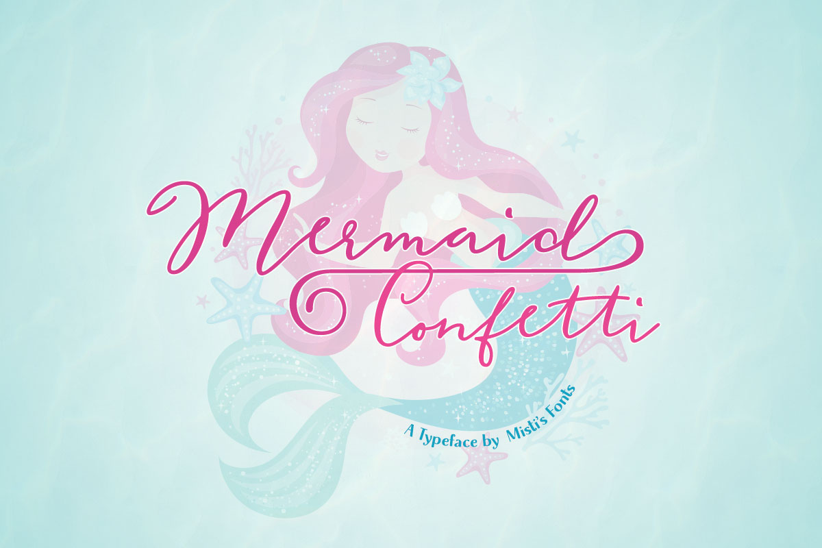 Mermaid Confetti Typeface by Misti's Fonts