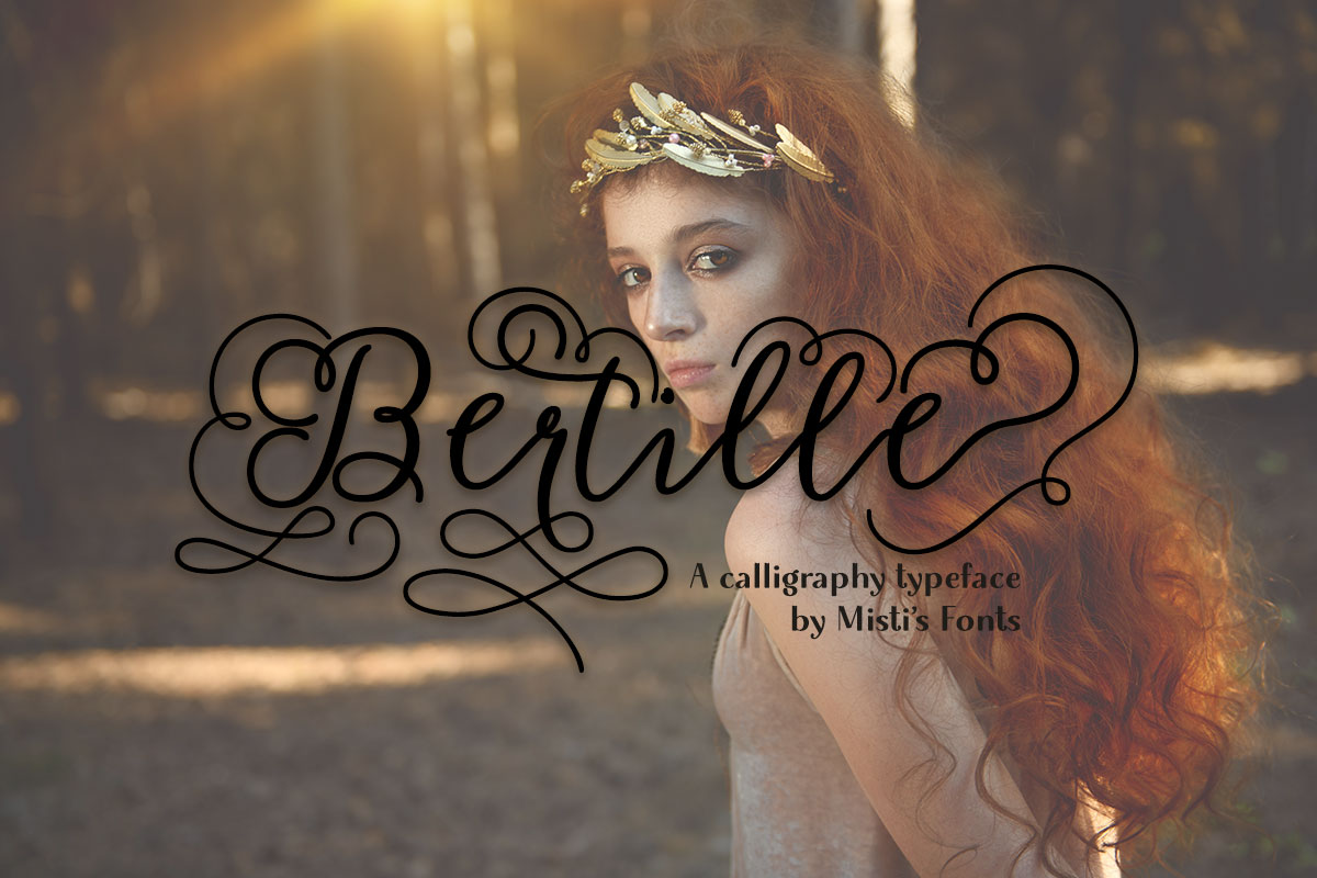 Bertille Typeface by Misti's Fonts