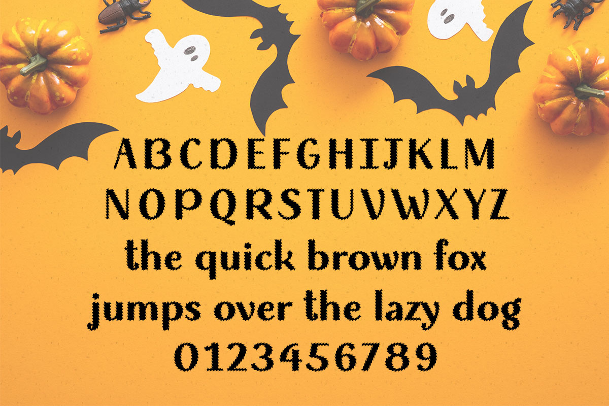 Wicked Halloween Typeface by Misti's Fonts